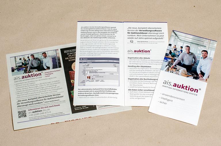 Gestaltung der Kommunikationsmaßnahmen für ais.auktion