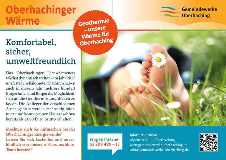 Großflächenplakat 18/1 für die Gemeindewerke Oberhaching - Motiv 1