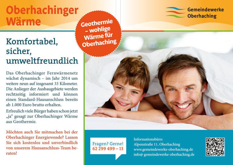 Großflächenplakat 18/1 für die Gemeindewerke Oberhaching - Motiv 2