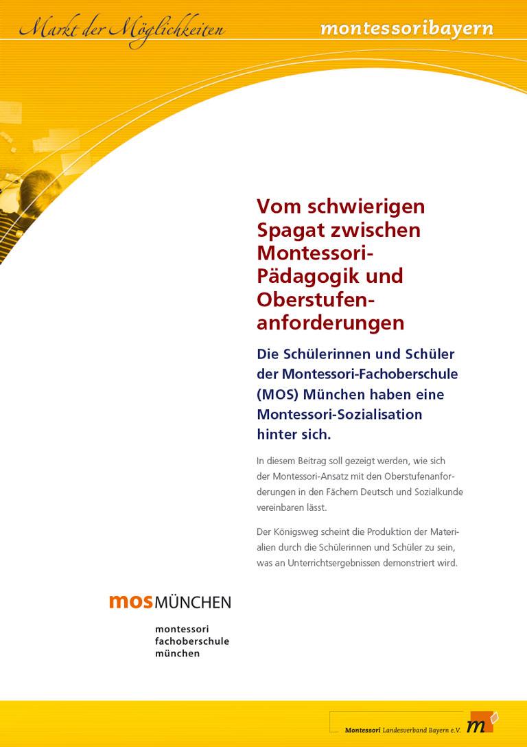Montessori Landesverband Bayern - Schautafel MOS Montessori Oberschule Info