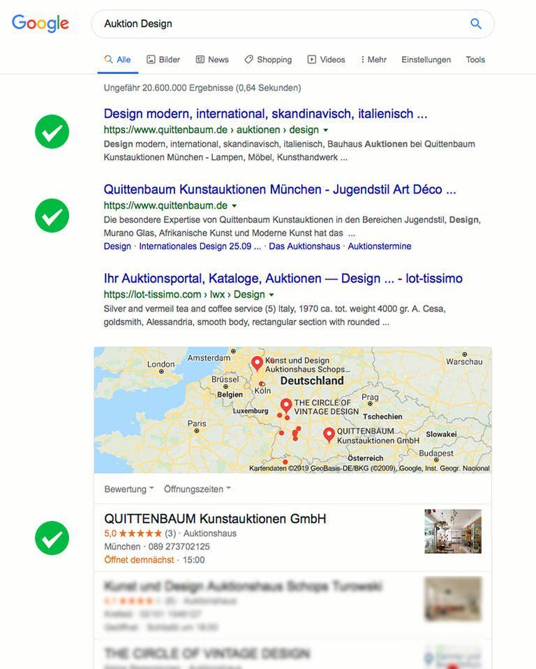 SEO Quittenbaum Kunstauktionen - Design