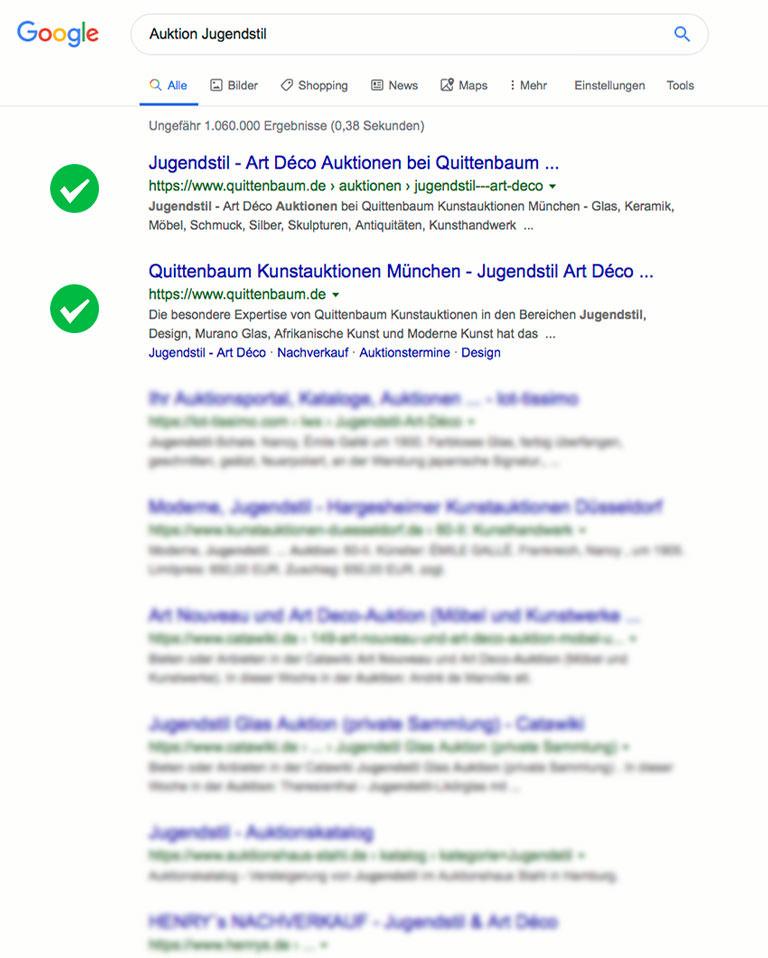SEO Quittenbaum Kunstauktionen - Jugendstil