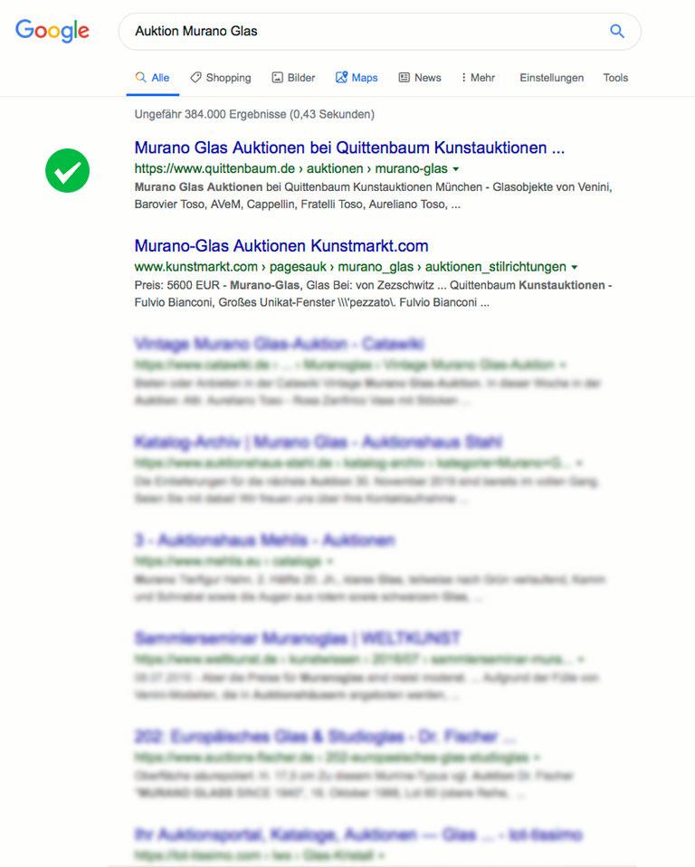 SEO Quittenbaum Kunstauktionen - Murano Glas