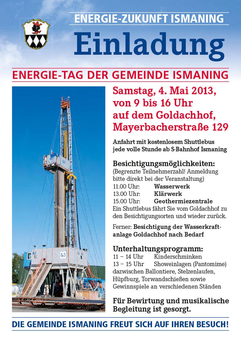Tag der Energie Ismaning – Plakat