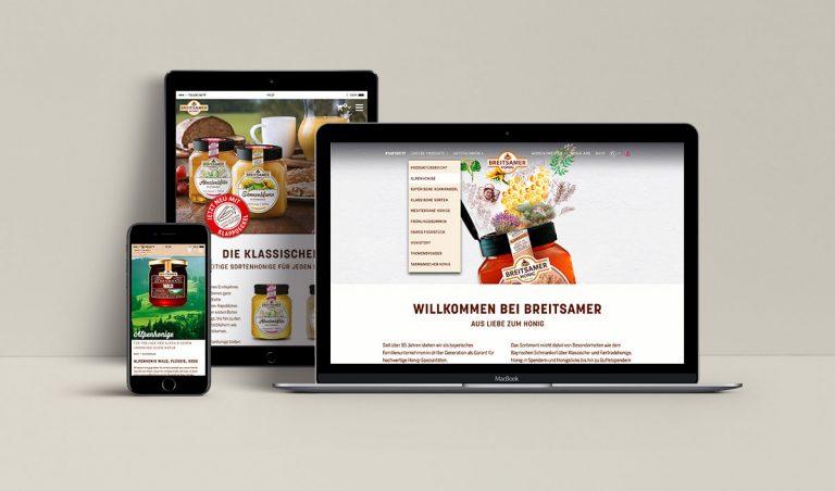 Webdesign für Breitsamer Honig