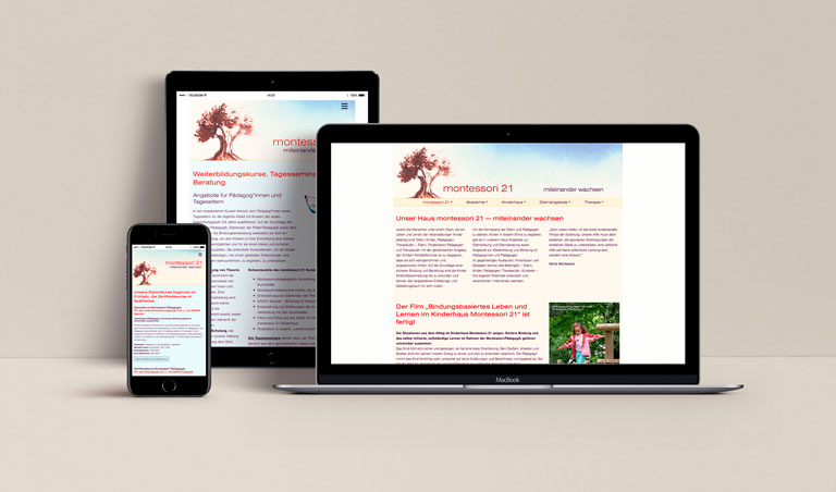 Website Montessori 21