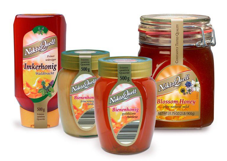 Nektarquell Honig Produktausstattung