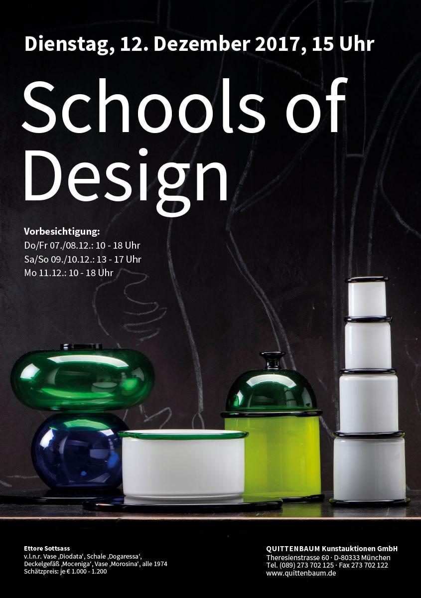 Quittenbaum Kunstauktionen - Plakat zur Design-Auktion