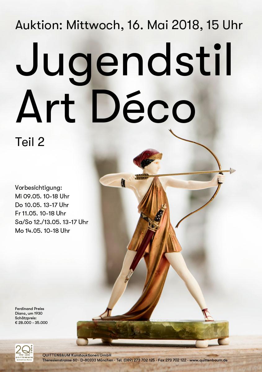 Quittenbaum Kunstauktionen - Plakat zur Jugendstil-Auktion