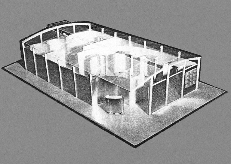 Rohleder Möbelstoffe – Modell zum Messestand Decosit